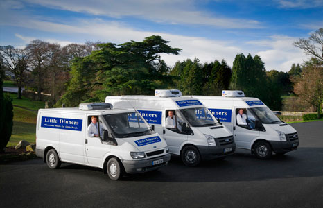 We manage everything, our fleet of refrigerated vans deliver the meals straight to your door.